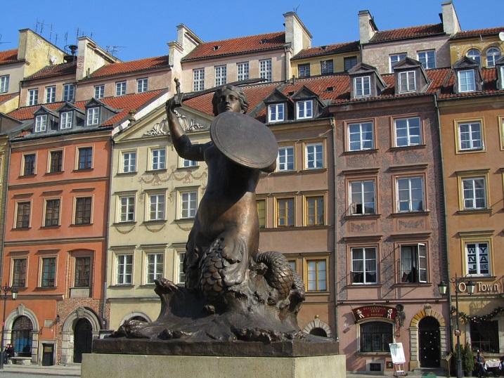 Русалочка на площади Рынок в Варшаве