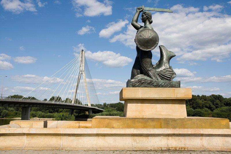 Памятник Русалочке на Висле