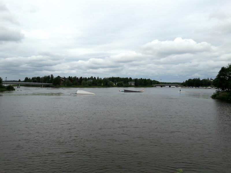 На реке Оулуйоки установлен тренажер