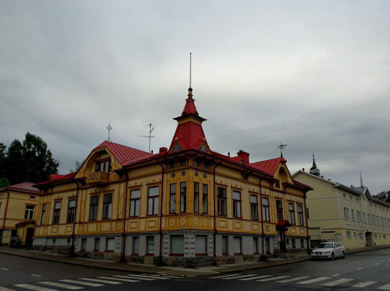 Город Кеми -  старинная деревянная застройка