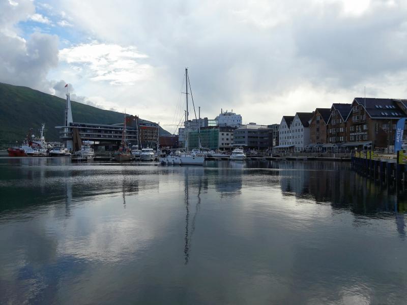 Норвегия. Тромсё - городская гавань
