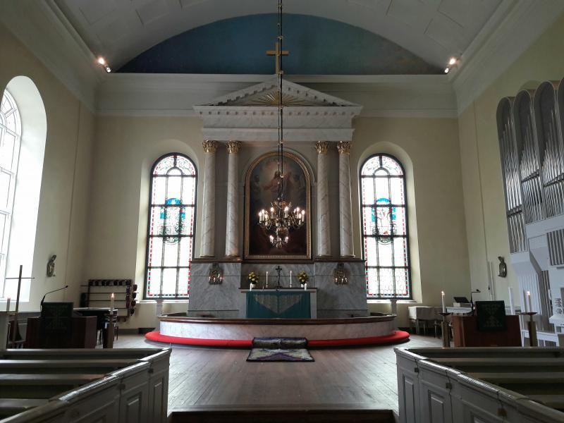 Интерьеры собора в Оулу