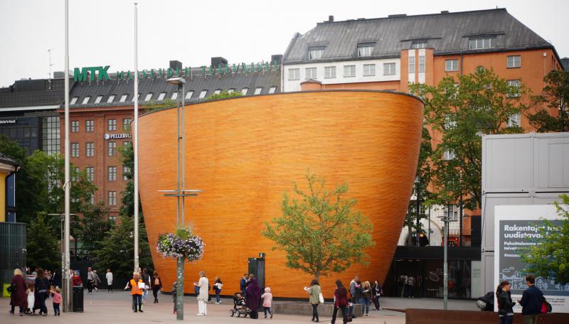 Часовня тишины Камппи, Хельсинки, Финляндия