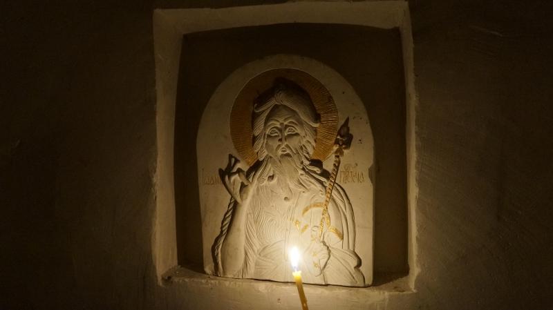 Белогорский Воронежский монастырь, меловая икона в келье